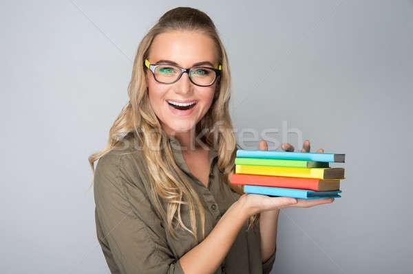 Happy student girl portrait Stock photo © Anna_Om