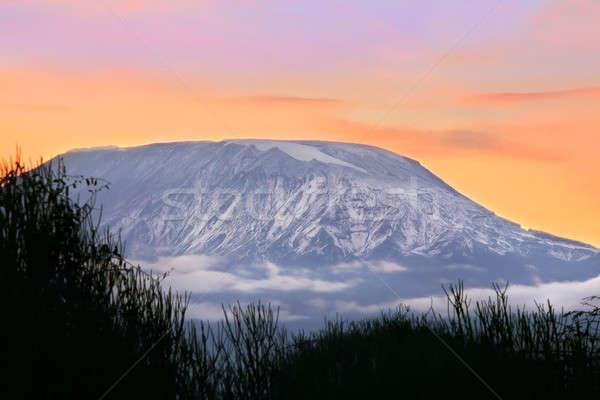 ストックフォト: 日の出 · キリマンジャロ · ケニア · 風景 · 美 · 山
