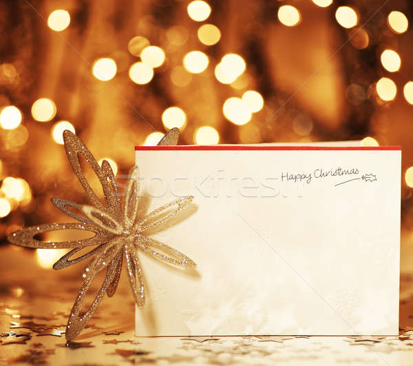 Happy Christmas card Stock photo © Anna_Om