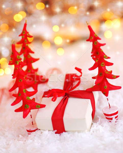 Stock photo: Beautiful Christmas gift