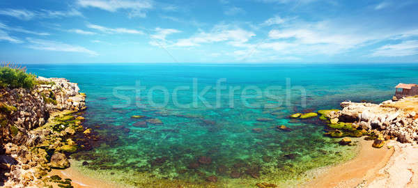 Panoramic blue lagoon Stock photo © Anna_Om
