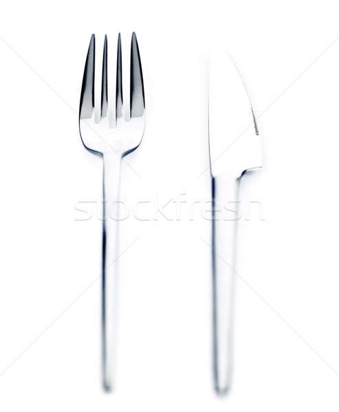 Silver knife and fork Stock photo © Anna_Om
