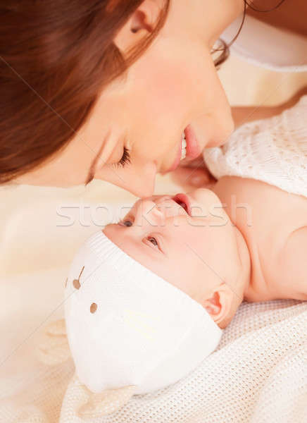Happy mother with baby Stock photo © Anna_Om