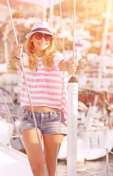 Enjoying luxury summer vacation Stock photo © Anna_Om