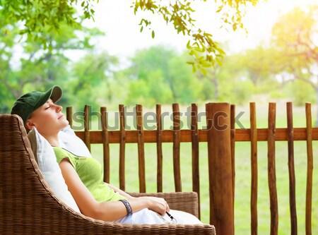 Calm female on spa resort Stock photo © Anna_Om