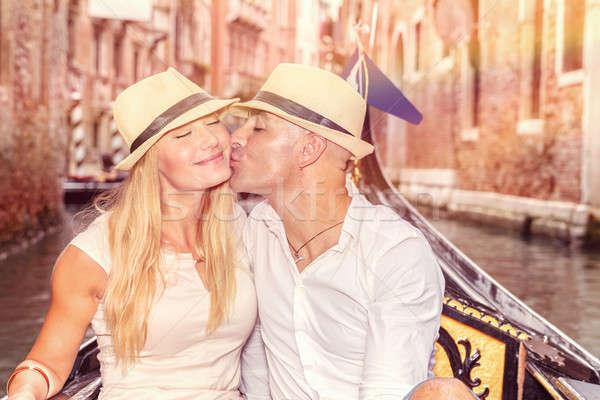 нежный пару любви новобрачный муж целоваться Сток-фото © Anna_Om