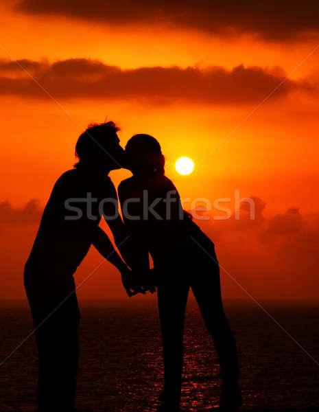 Romantic kiss Stock photo © Anna_Om