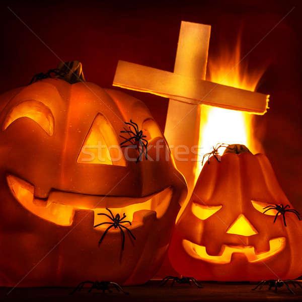 Halloween night Stock photo © Anna_Om