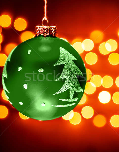 Green Christmastime decoration Stock photo © Anna_Om