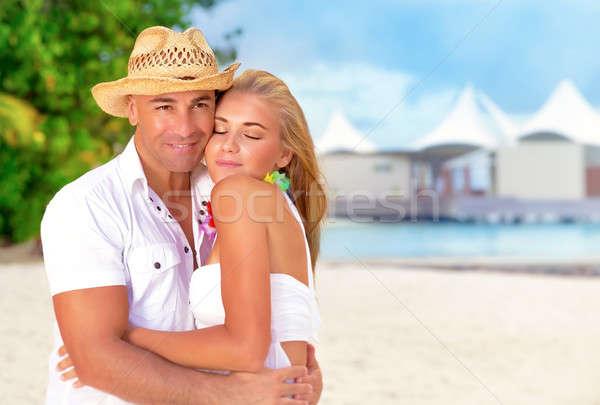 медовый месяц отпуск портрет красивой Сток-фото © Anna_Om