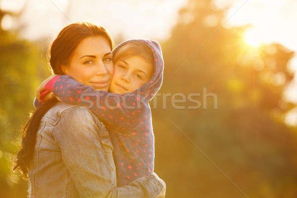 Felice madre figlia ritratto bella Foto d'archivio © Anna_Om