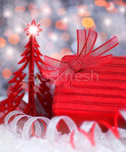 Stock photo: Christmas gift