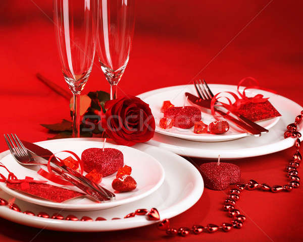 Romantic dinner Stock photo © Anna_Om