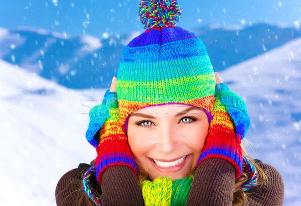 Woman on winter holidays Stock photo © Anna_Om