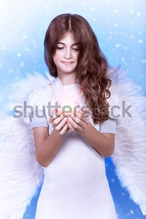 Sweet cupid girl Stock photo © Anna_Om
