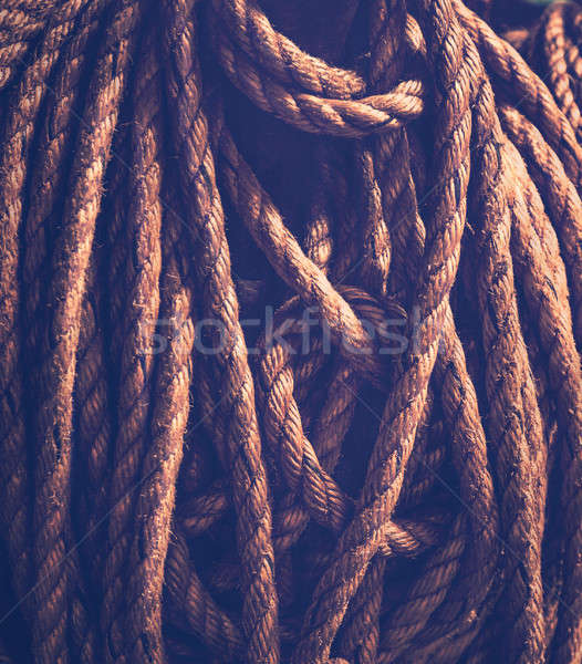 Vintage rope background Stock photo © Anna_Om