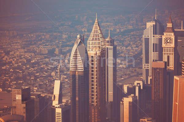 Bella Dubai cityscape moderno futuristico edifici Foto d'archivio © Anna_Om