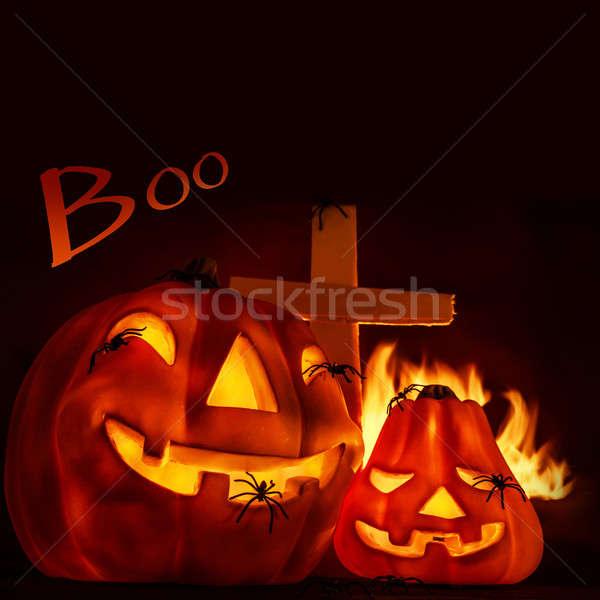 Halloween postcard Stock photo © Anna_Om