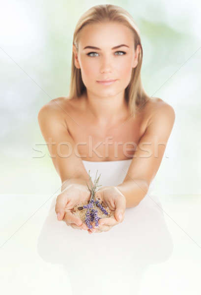 Mooie vrouw spa salon vrouw schoonheidssalon mooie Stockfoto © Anna_Om