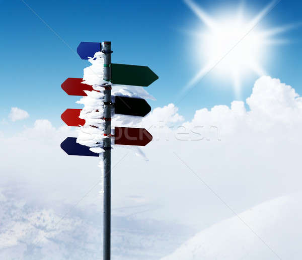 Mountain guidepost Stock photo © Anna_Om