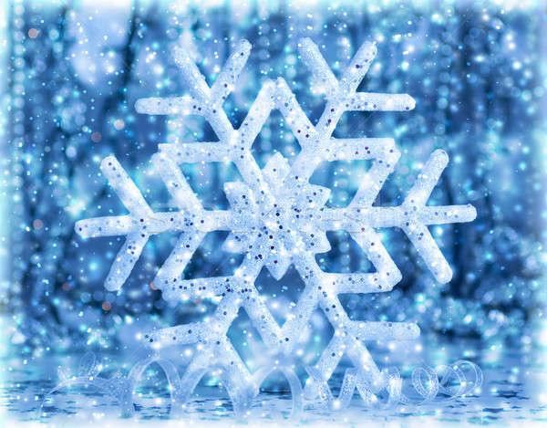 Beautiful blue snowflake Stock photo © Anna_Om