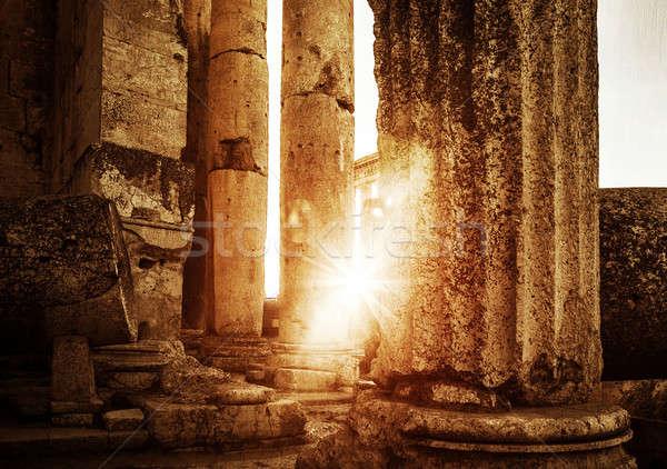 Jupiter's temple  Baalbek in sunset Stock photo © Anna_Om