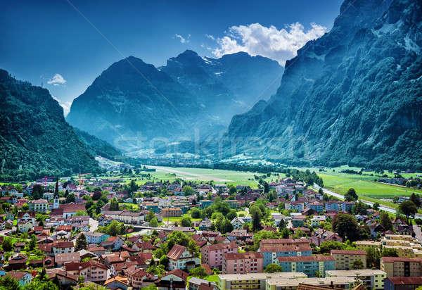 Beautiful mountainous village Stock photo © Anna_Om