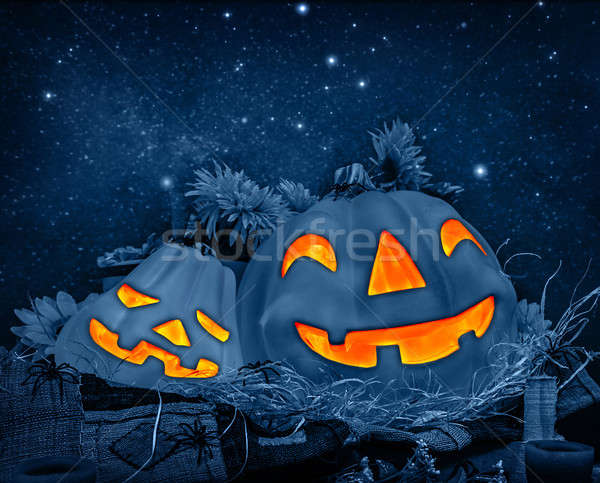 Halloween pumpkin decoration Stock photo © Anna_Om