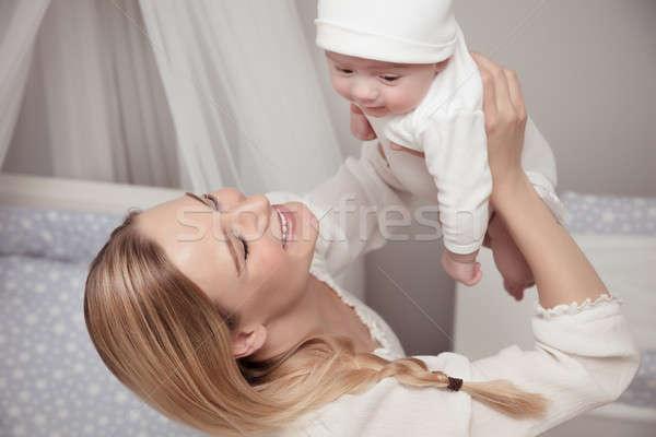 Сток-фото: счастливым · матери · ребенка · портрет · Cute