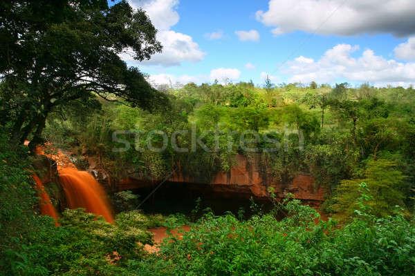 водопада пещере Африка Кения дерево весны Сток-фото © Anna_Om
