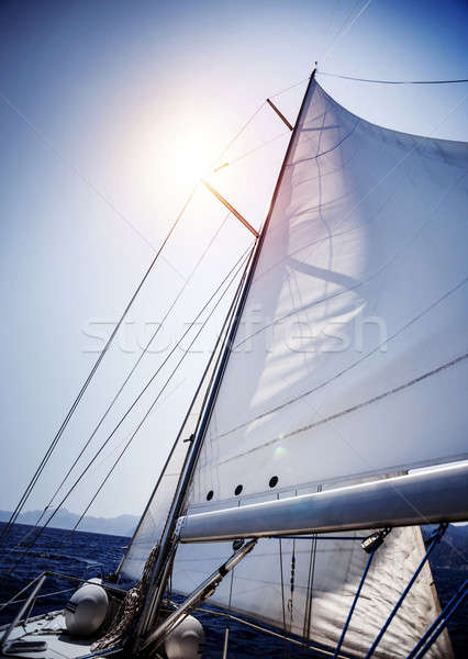 Stock photo: Sail of the Yacht
