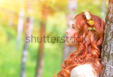 Beautiful woman portrait Stock photo © Anna_Om