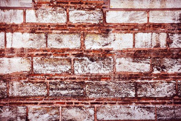 Pared de ladrillo resumen arquitectónico fondo edad grunge Foto stock © Anna_Om