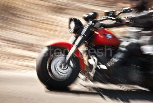 Abstract slow motion, biker riding motorbike Stock photo © Anna_Om