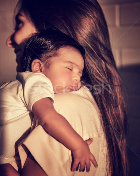 Mother with sleeping baby Stock photo © Anna_Om