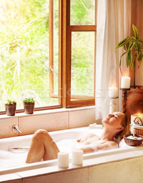 幸せ 女性 入浴 ストックフォト © Anna_Om