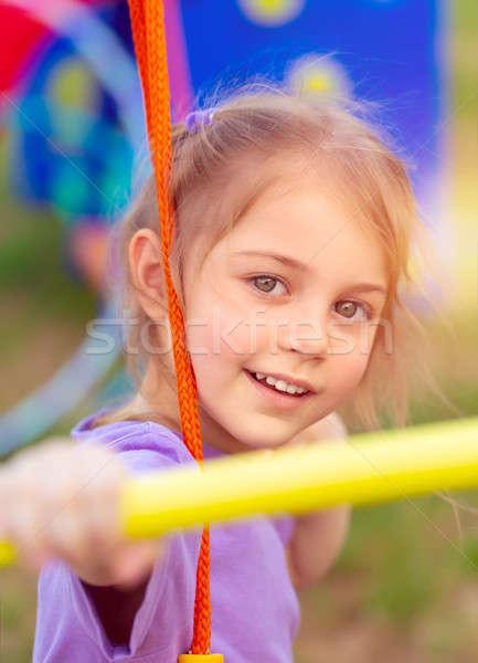 Little girl recreio retrato bonitinho balançar Foto stock © Anna_Om