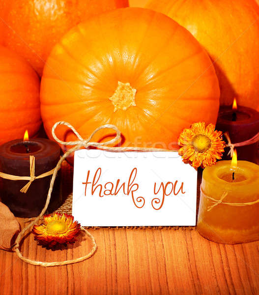 Thank you background, thanksgiving greeting card Stock photo © Anna_Om