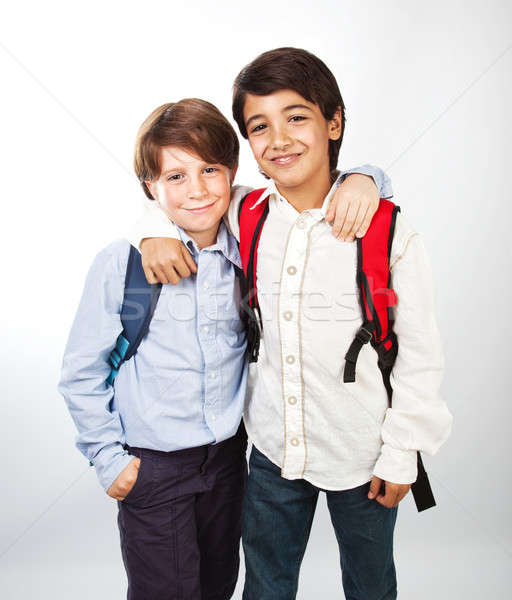 Two cheerful teenagers Stock photo © Anna_Om