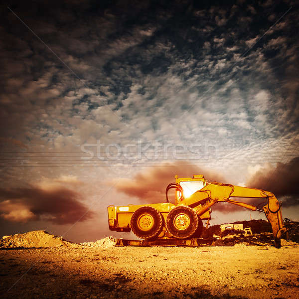 Old excavator on sunset Stock photo © Anna_Om