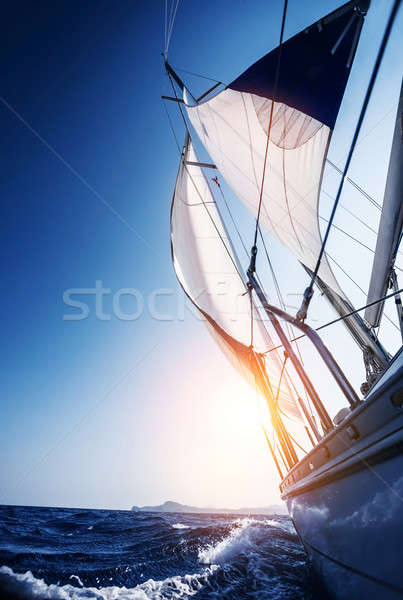 Sail boat in action Stock photo © Anna_Om