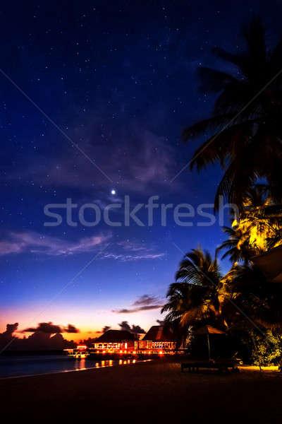 Tropical resort at night Stock photo © Anna_Om