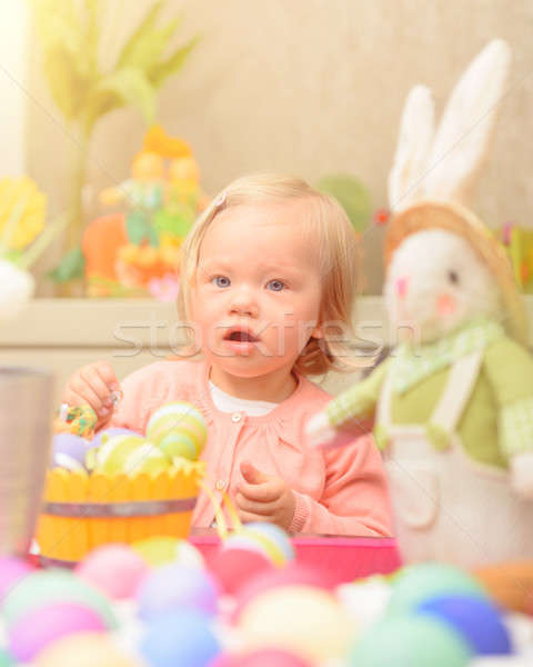 Little girl celebrate Easter Stock photo © Anna_Om