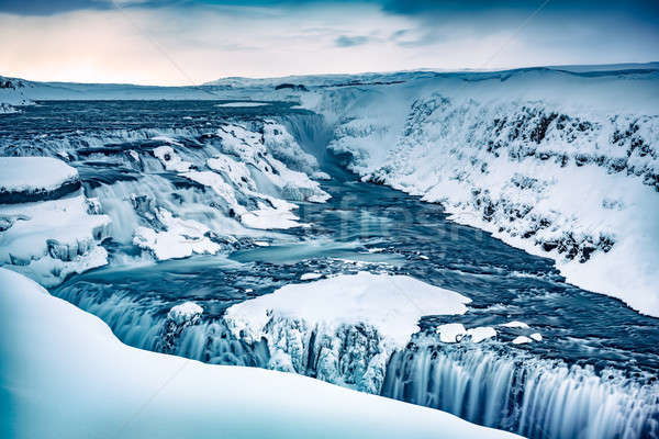 Gullfoss waterfall in Iceland Stock photo © Anna_Om