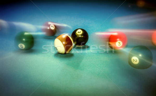 Billiard table vintage background Stock photo © Anna_Om