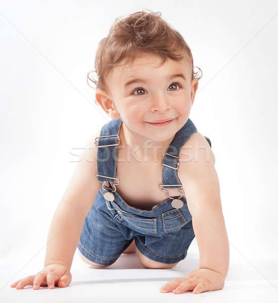 Baby boy crawling in the studio Stock photo © Anna_Om
