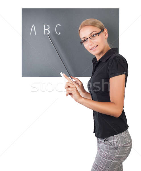 Young pretty teacher Stock photo © Anna_Om