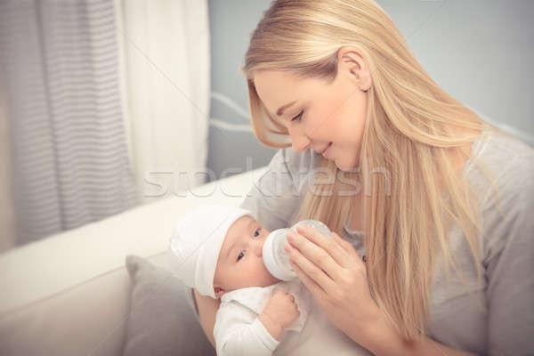 Matka baby cute godny podziwu Zdjęcia stock © Anna_Om