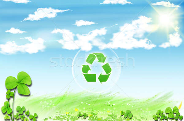 Conceptual drawing of planet conservation Stock photo © Anna_Om
