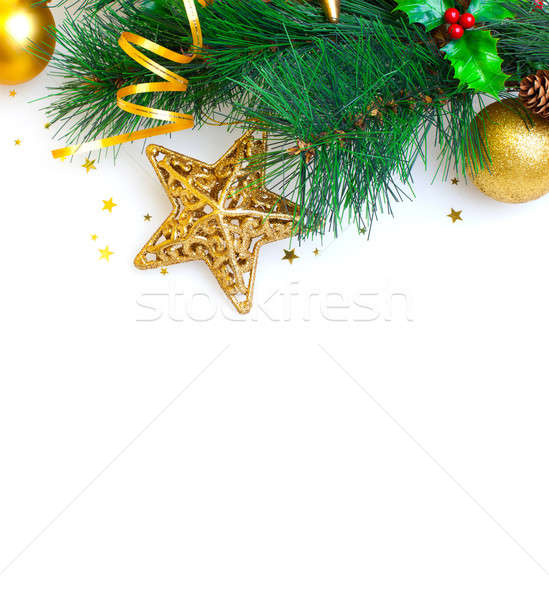 Christmas tree border Stock photo © Anna_Om